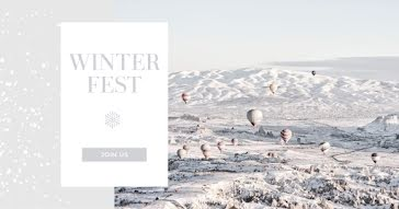 Winter Fest Join Us - Facebook Ad Template