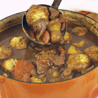 How to Makeg a Classic Beef Stew and Suet Dumplings.