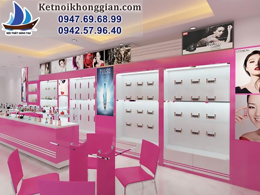 thiết kế shop mỹ phẩm đẹp và thiết kế cửa hàng mỹ phẩm hợp lý