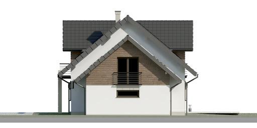 Dom przy Cyprysowej 36 D - Elewacja prawa
