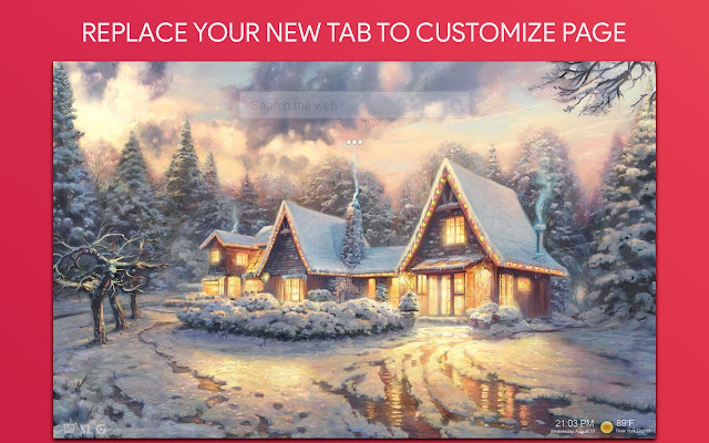 Christmas Wallpaper HD Custom New Tab
