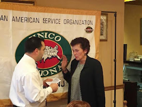 Photo: Our Chapter welcomes back Donna Kiel as she gets re-installed as a member at our 4/29/15 meeting