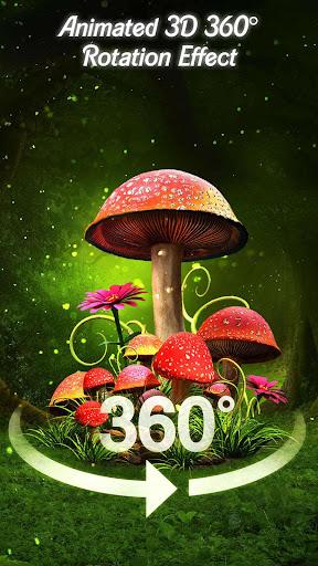 3D Nature Forest Mushroom Live Wallpaper &Launcher screenshots 2