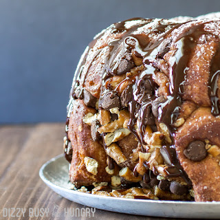Chocolate Pretzel Monkey Bread.