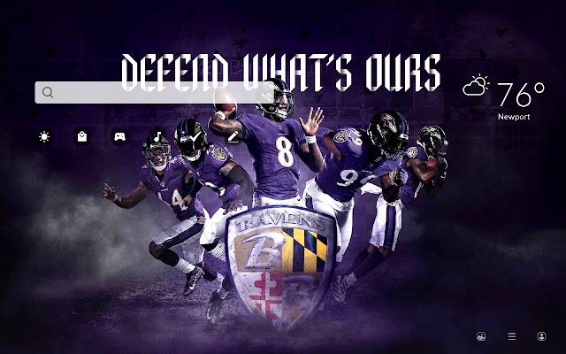 Baltimore Ravens HD Wallpapers New Tab