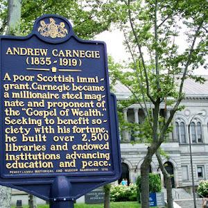 Read the Plaque - Andrew Carnegie