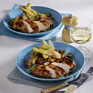 Honey Chicken with Fennel and Mushrooms.