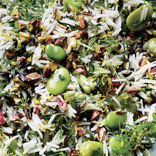 Rice Salad with Fava Beans and Pistachios