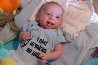 Photo: 9 weeks old. That's Mister T on the shirt, in case you were wondering.