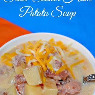 Slow Cooker Cheesy Potato Ham Soup