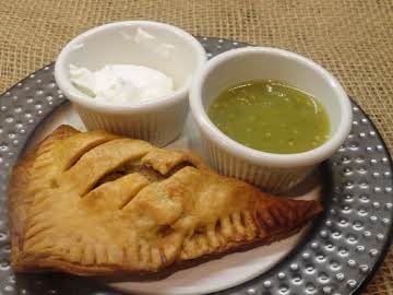 Turkey & Potatoes Empanadas with Salsa Verde