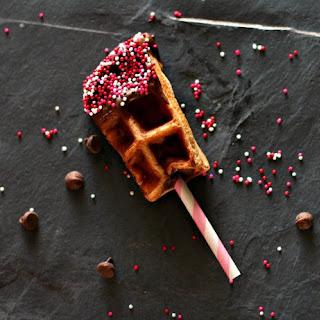Chocolate Covered Cherry Waffle Stick