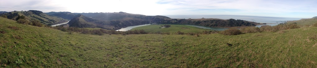 Photo: Panorama from high above Jenner. Saturday...