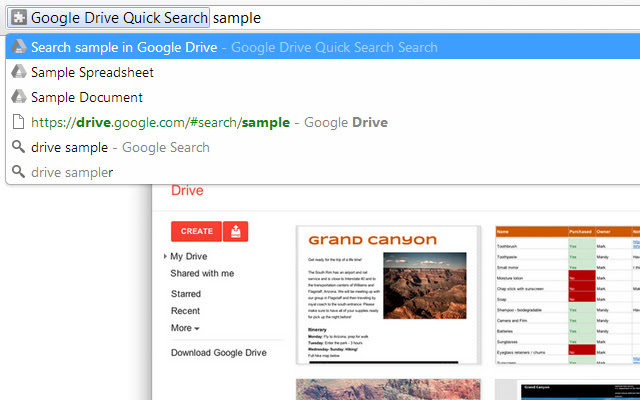 Quick Search for Google Drive™