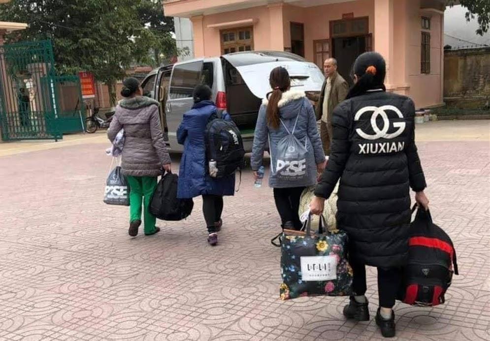 Giải cứu, tiếp nhận 4 phụ nữ mang thai vượt biên bán con trở về (tháng 1/2019)