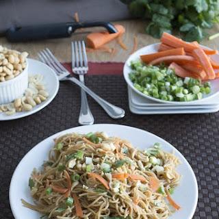 Spicy Thai Pasta with Cilantro & Carrots.