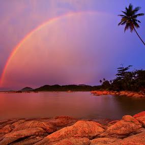 Twilight & Rainbow by Yohanes Irawan - Landscapes Waterscapes ( singkawang, landscape )