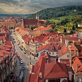 Prague, Malá Strana by Irena Brozova - City,  Street & Park  Vistas