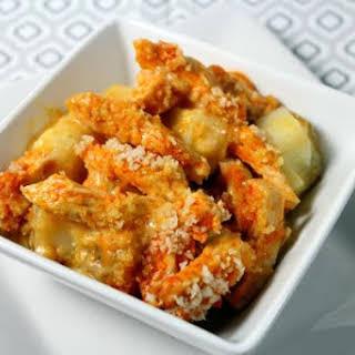 Buffalo Chicken & Creamy Ranch Potato Casserole.