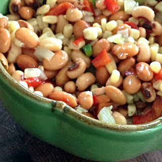 Pretty Vegetable Bean Salad