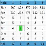 Golf Scorecard Icon