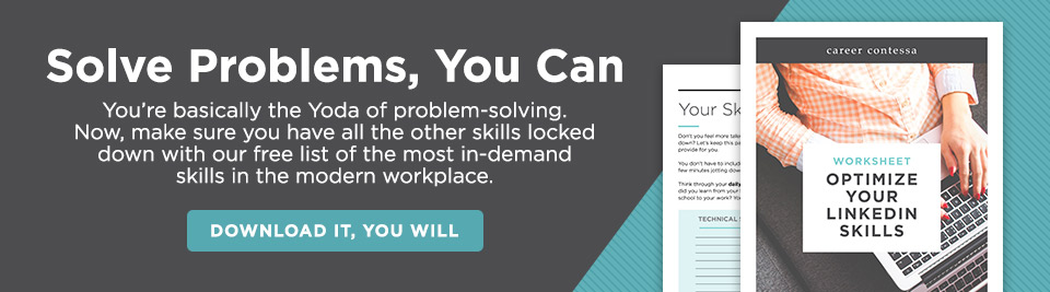 solving problems in the workplace