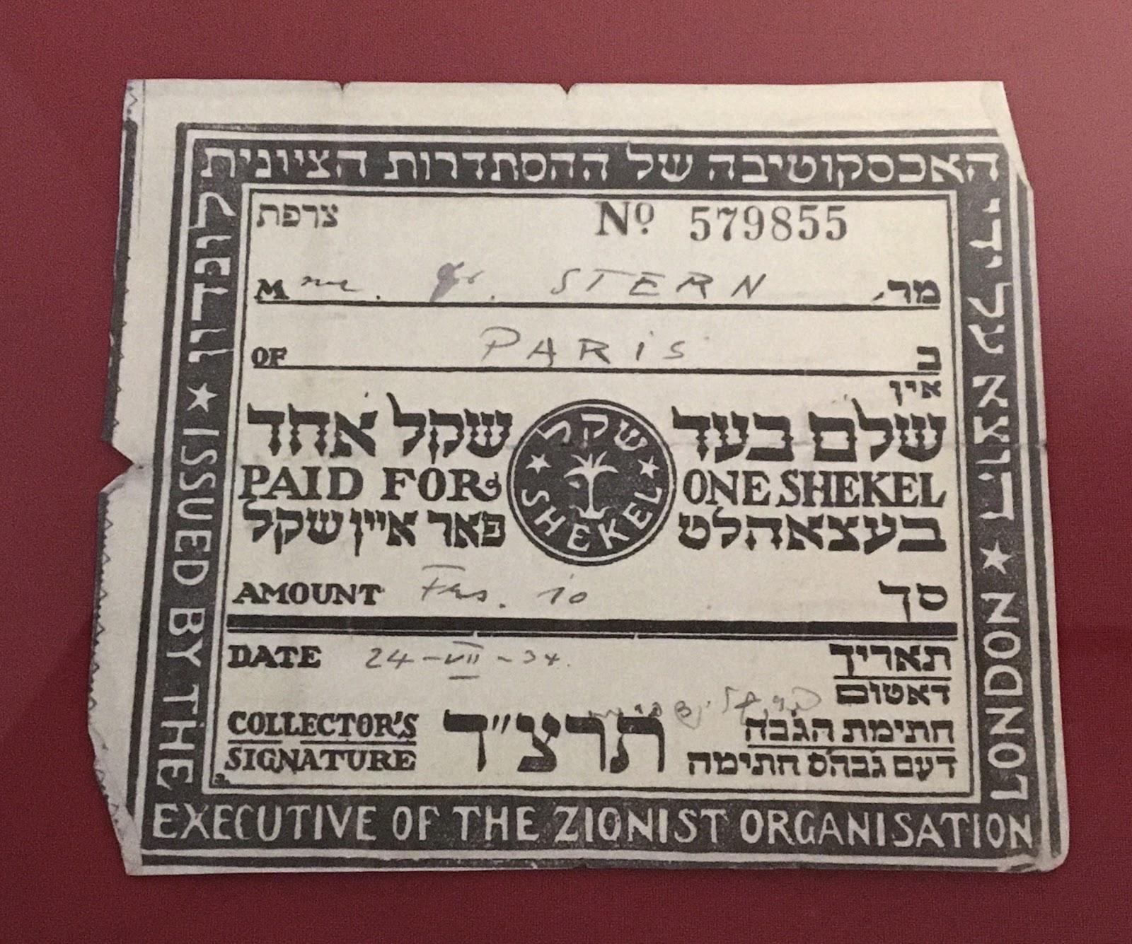 Deutsches Historisches Museum Hannah Arendt Zionist organisation membership card