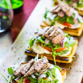 Open Faced Steak Caprese Sandwiches