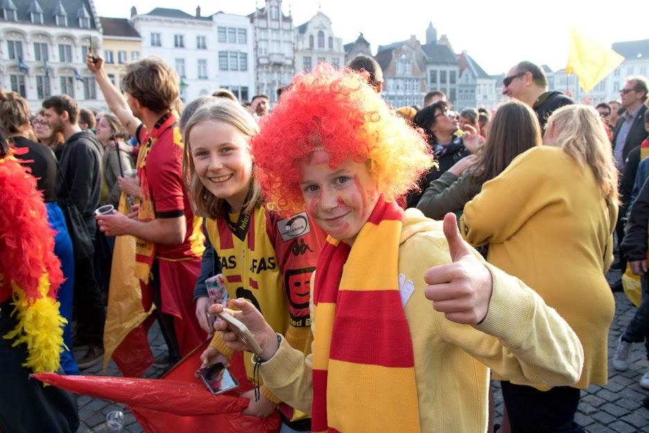Kv Mechelen supporters vieren Beker van België 2019