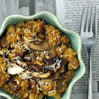 Cauliflower Risotto with Roasted Mushrooms (Low Carb/Paleo/Vegan) Recipe