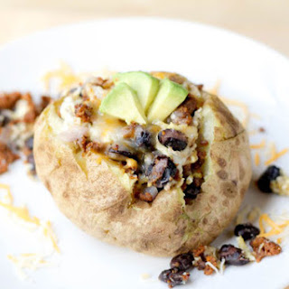 Vegetarian Southwestern Breakfast Baked Potatoes