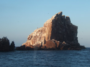 Photo: The sea around these rocks was swarming with millions of sardines. They were preyed on by sea birds, sea lions, and other fish, and ogled at by us.