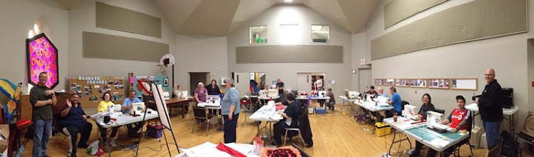 Photo: Panorama of class worksop at Central Church.