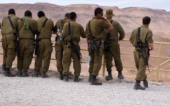 Photo: Israeli soldiers at Masada