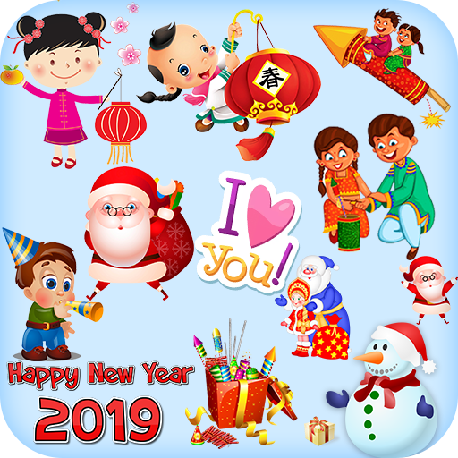 Christmas And New Year Stickers For Whatsapp