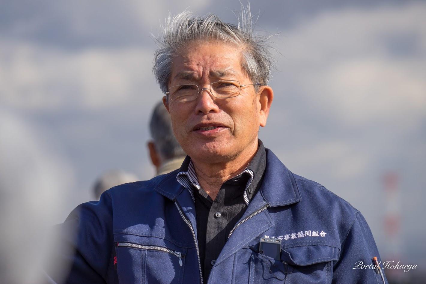 黒千石大豆について熱く語る高田理事長