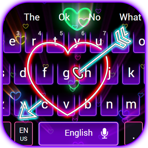 Electric Neon Heart Keyboard Theme Android APK Download Free By Android Themes Design Studio