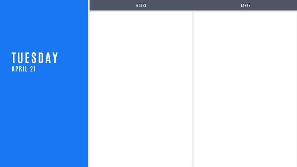Blue Daily - Calendar Template