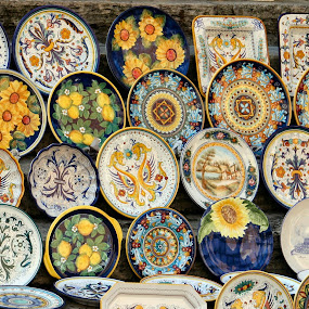 Ceramic Dishes by Jud Joyce - Artistic Objects Other Objects (  colors,  bright,  perugia, italy,  dishes )