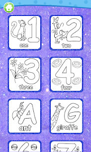 Glitter Number and letters coloring Book for kids 6