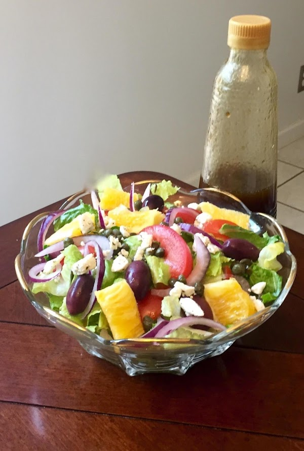 Balsamic Mediterranean Style Salad With  Oranges Recipe