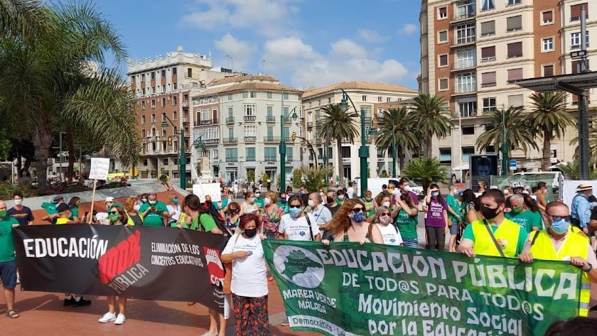 La huelga ha sido convocada por Marea Verde Andalucía.