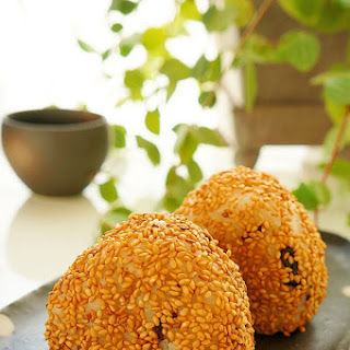 Rice Balls with Salted Kelp and Sesame