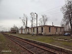 Photo: Budynek dworca, kiedyś stał tutaj budynek taki jak w Małomicach