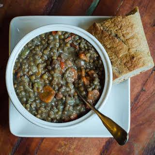 Ham, Lentil and Vegetable Soup (Pressure Cooker Version).