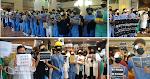 【8.12】東區醫院逾 200 醫護 戴頭盔、右眼裹紗布集會 抗議警察暴力