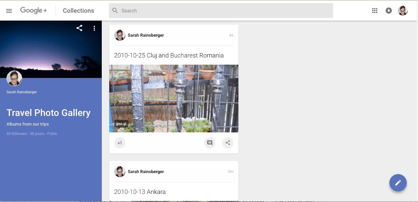 A Collection displays as a string of posts, not like a proper m x n grid of gallery thumbnails