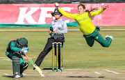 Nadine de Klerk during the fourth women's T20 match between South Africa and Pakistan at Willowmoore Park in Benoni.