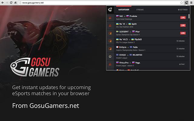GosuGamers Chrome Extension