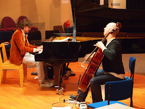 Photo: Private concert by Ernst Reijseger and Harmen Fraanje